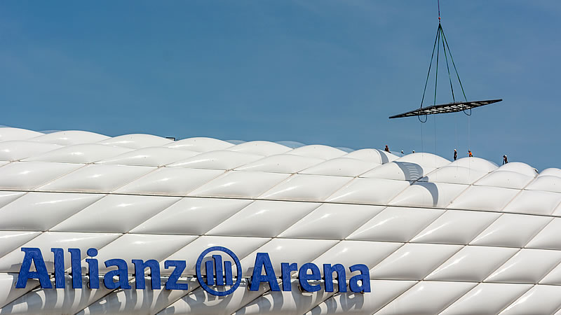 FLEDMEX Lamellendach Allianz Arena in München